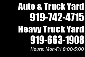 Local Used Auto Truck Parts Contacts North Carolina
